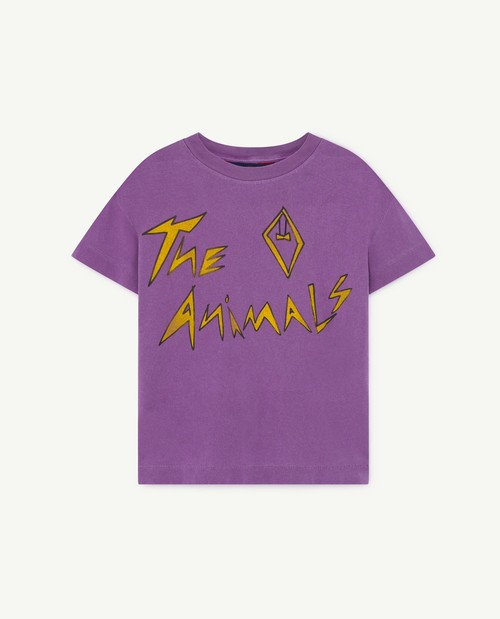 the animals observatory ROOSTER KIDS T-SHIRT VIOLET ANIMALS