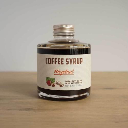 COFFEE SYRUP / hazelnut (caffeine free)