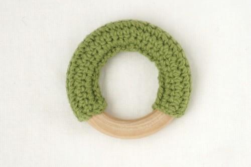 【コットンリング】オリーブグリーン | おしゃれな歯固めジュエリー linolino - 町田で ワークショップも開催中