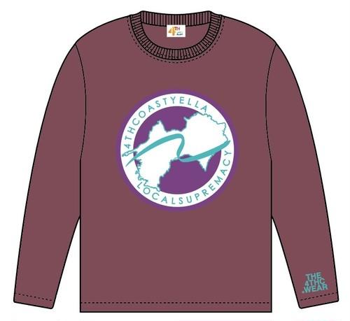 TRANS-4THCoast Long Sleeve T-shirt (Burgundy)