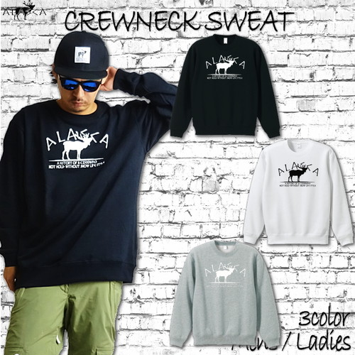 ALASKA CREWNECK SWEAT moose as-15