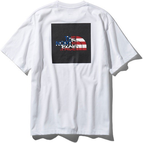 THE NORTH FACE ノースフェイス S/S NATIONAL FLAG SQURE LOGO TEE