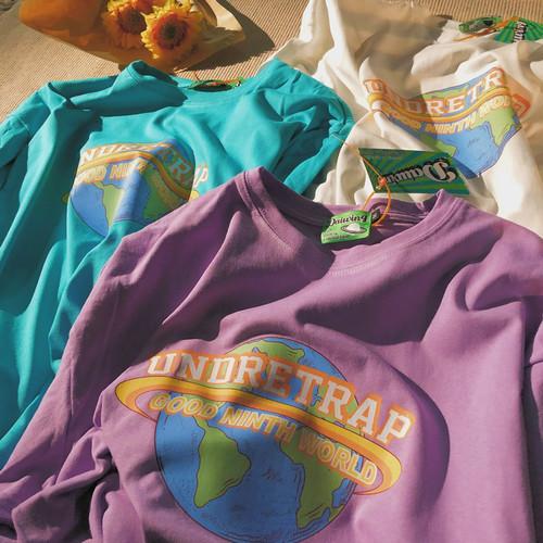 ★UNISEX UndretrapロングTシャツ(CreamWhite,Mint,Purple) 79
