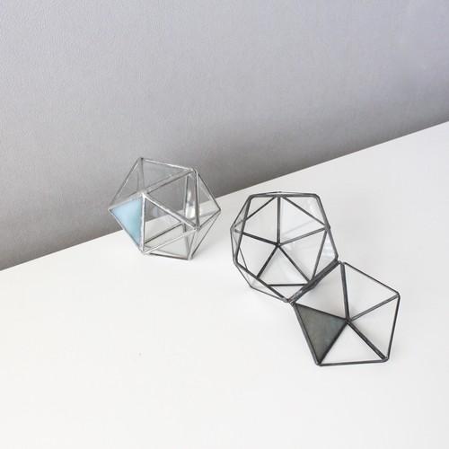 ガラス多面体 / 正二十面体 蓋付きケース