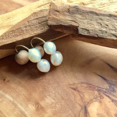 double flesh water pearl × sakura wood short