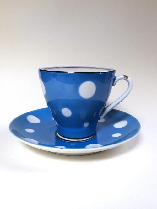 Soviet vintage dot cup&saucer no.212