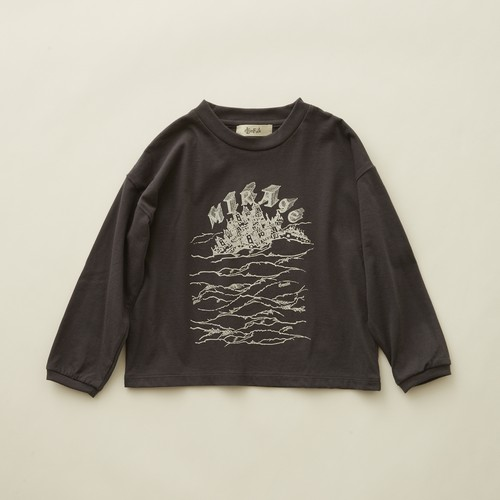 《eLfinFolk 2020AW》MIRAgE town  long sleeve-T / charcoal / 140cm