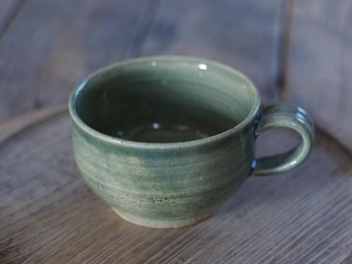 藍媚茶釉 スープカップ