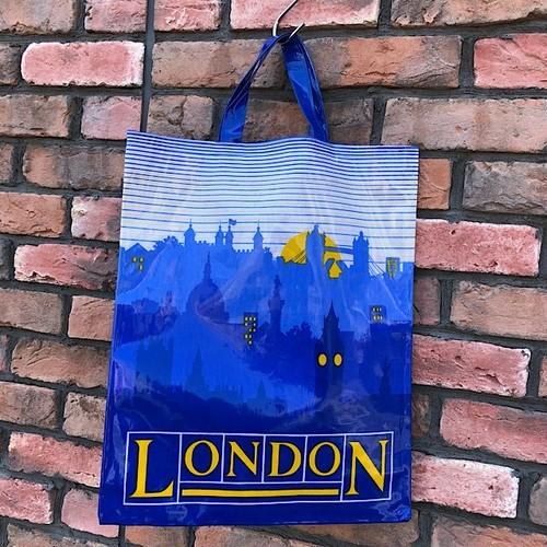 1970s Deadstock Lodon P.V.C. Coated Tote Bag Made In England
