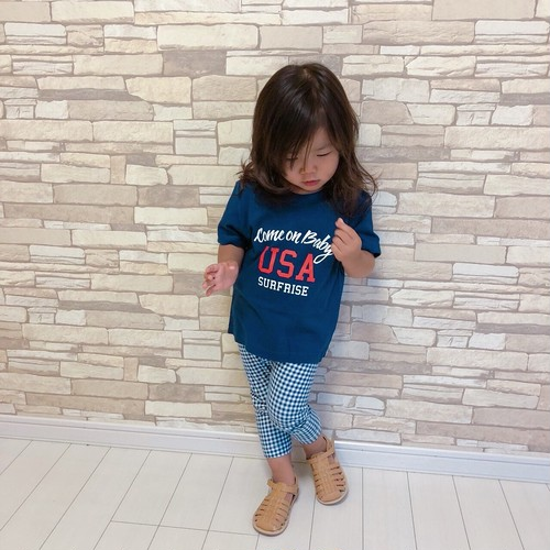★Kids★Come on baby USA Tee - Indigo
