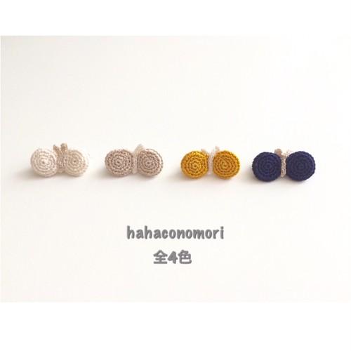 極細レース糸♡ミニちょうちょのブローチ レース糸  基本の4色