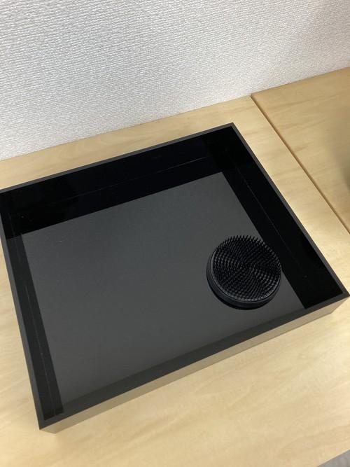 黒の花器 水盤