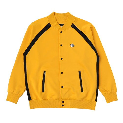 EXAMPLE OE LOGO PATCH JERSEY JACKET / YELLOW