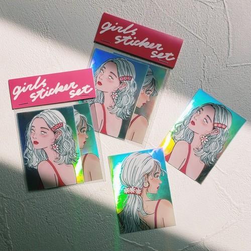 girls sticker set