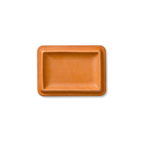 colm Leather Tray S Camel