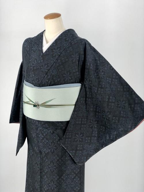 小紋 袷着物 着物 きもの カジュアル着物 仕立て上がり 送料無料 リサイクル着物 中古 身丈155cm 裄丈63cm