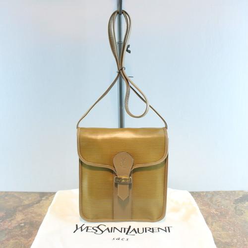 .OLD YVES SAINT LAURENT YSL LOGO SHOULDER BAG MADE IN FRANCE/オールドイブサンローランYSLロゴショルダーバッグ 2000000035185