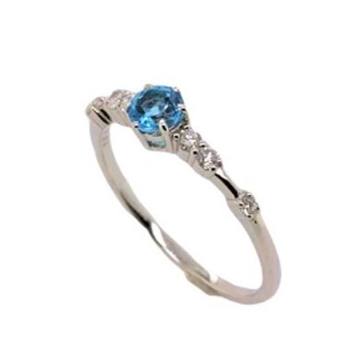 誕生石リング ブルートパーズ 11月 リング 婚約指輪
