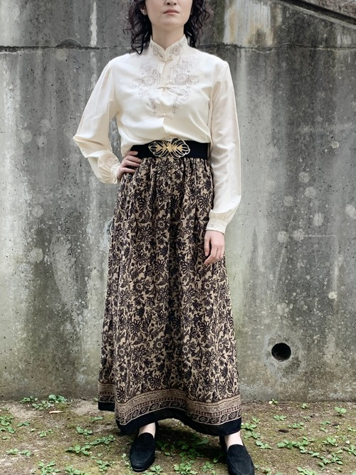 Vintage Botanical Gather Skirt