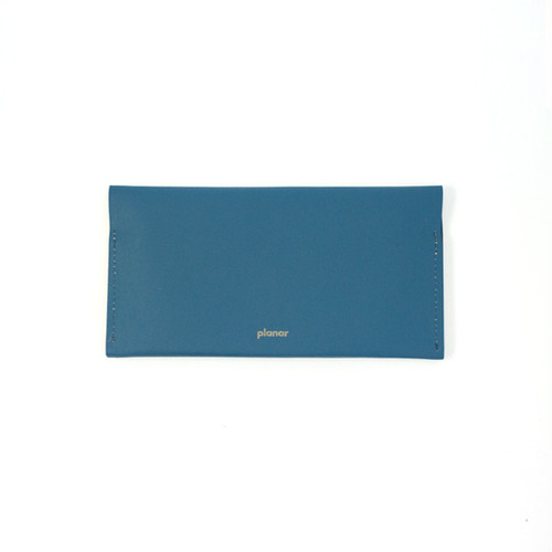 planar -Wallet L  Blue Plain