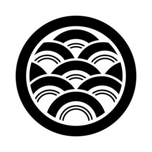 丸に青海波 aiデータ
