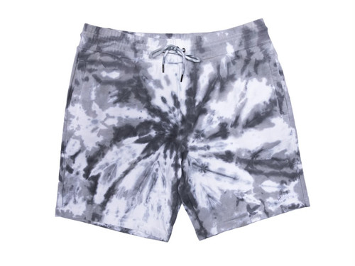 RIPNDIP|Peek A Nermal Sweat Shorts (Black Spiral Tie Dye)