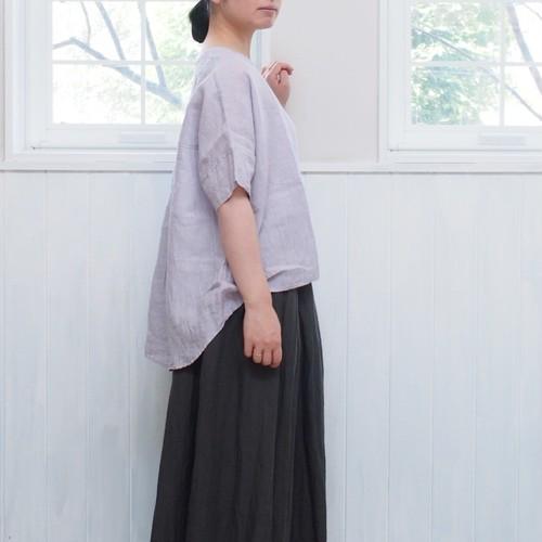 YAMMA リネンバックギャザーシャツ 半袖  LBG-SH-HS ヤンマ産業