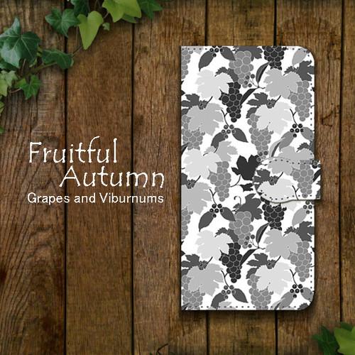 Fruitful Autumn 葡萄柄 shade 手帳型スマホケース iPhone/Android
