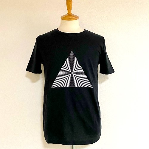Triangle Print Crew Neck T-shirts Black