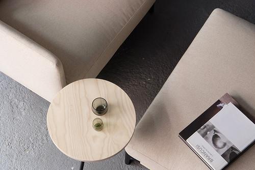 dual sofa ottoman(fabric) - Walnut