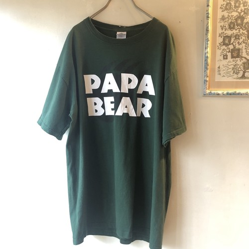 USA used tee 'PAPA BEAR'