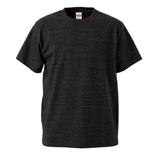 United Athle-5001-5.6oz-無地Tシャツ-ヘザーブラック