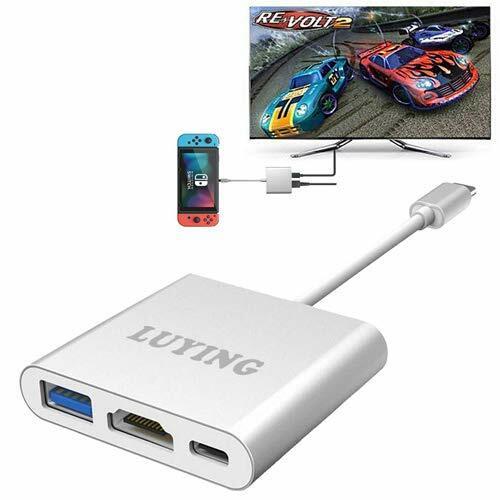 Nintendo Switch専用 TYPE-C to HDMI 変換 アダプター 小型 ドック スイッチ 大画面テレビ出力 コンバーター ケーブル MacBook対応