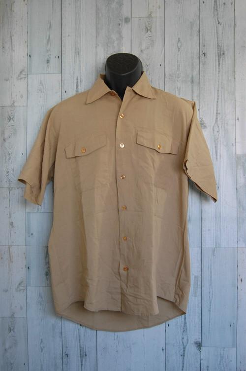 アメリカ輸入古着elleco(エルコ)半袖ワークシャツ ☆アメカジ古着ファッション
