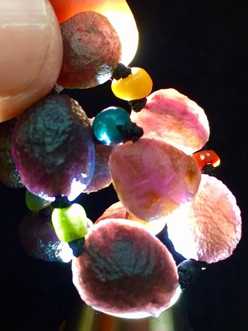 3) 紫ゴビアゲート「卑弥呼」アート・ネックレス