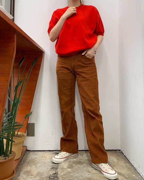Lee made in USA  corduroy pants  brown 【W29L32】