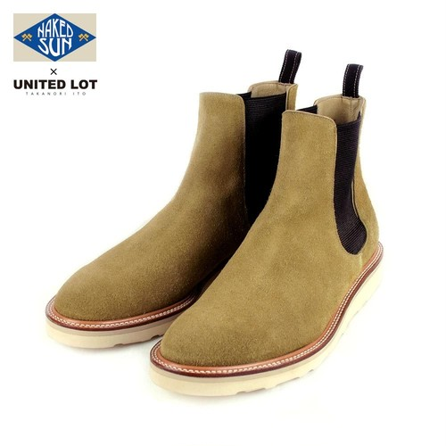 017008001(NAKED SUN × UNITEDLOT SUEDE SIDE GORE BOOT)BEIGE