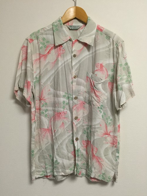 used goldfish S/S Hawaiian shirt