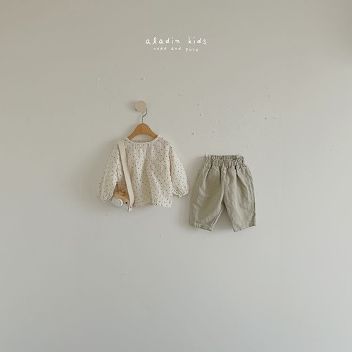【予約販売】mint/check pants〈aladin kids〉