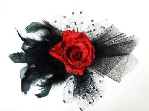 コサージュ(赤薔薇)