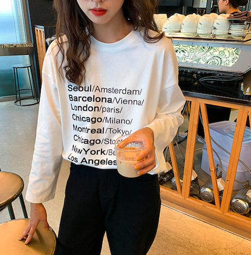 ビッグロゴロングTシャツ U3131