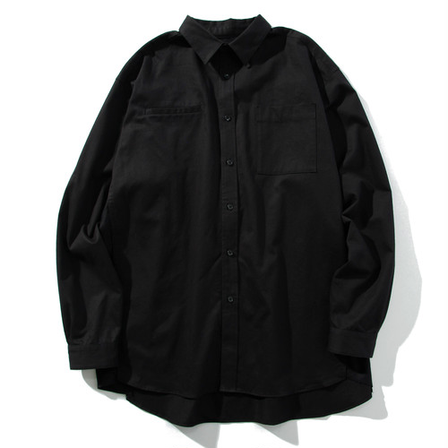 brushed face relax shirt(black)