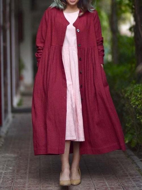 Khadi Long Jacket & Dress SET