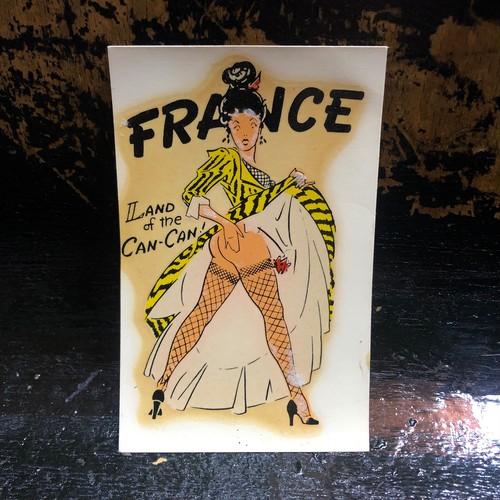 60's Lady Water Decal おねーちゃん  バーガスレディ ビンテージ 水張りデカール 水張りステッカー(FRANCE)