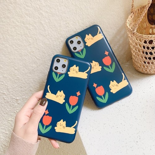 【オーダー商品】Cat flower iphone case