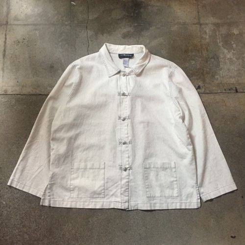 90s SAG HARBOR Linen China Jacket