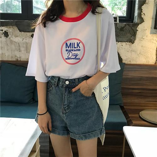 【即納♡】プリントオーバーTシャツ 6441