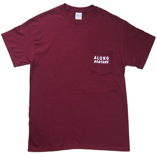 A LONG ASAYAKE ポケットTシャツ マルーン