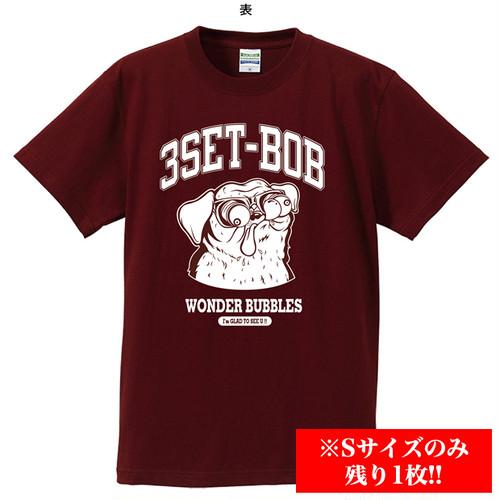 【Sサイズのみ残り1枚!!】パグTシャツ(バーガンディ)