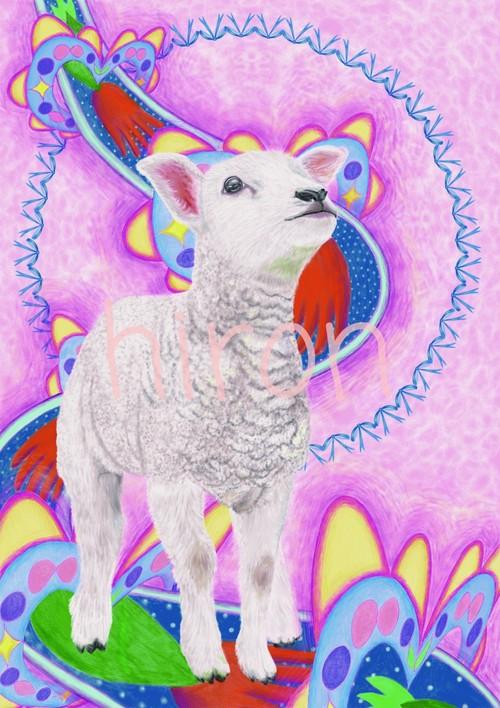 瞳の先に。-子羊-  A4プリント